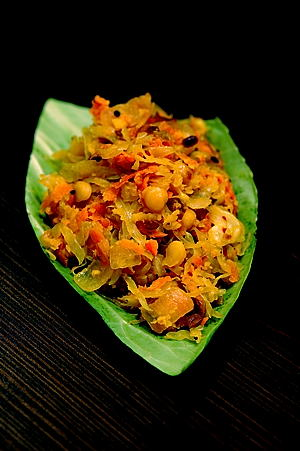 Cabbage with Carrot Curry
