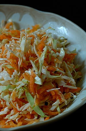 Cabbage and Carrot Kosambari