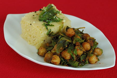 Chard Chickpeas with Khaman