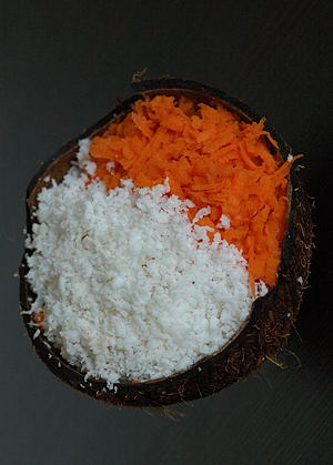 Carrot and Coconut ~ Grated for the Cake