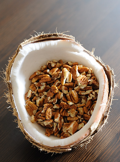Fresh Coconut and Pecans