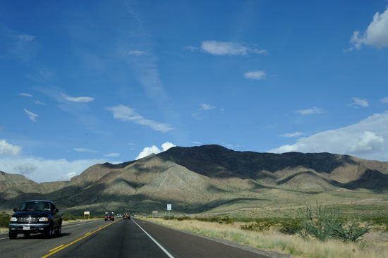 Transmountain Road through Franklin Mountains