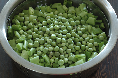 Fresh Green Beans and Green Peas