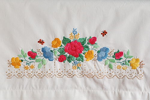 Embroidered Pillow Cover for Home