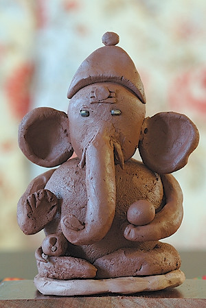 Homemade Ganesh for Ganesh Chaturdi