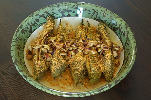 Stuffed Karela (Stuffed Kakarakaya)