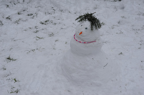 Snow Girl with Rosemary Hat
