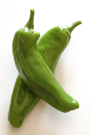 Homegrown Anaheim Peppers