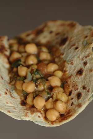 Avocado Methi Paratha with Methi Chole