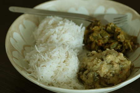 Methi Turai Dal with Rice