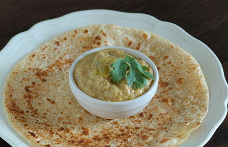 Chapati with Banana Pepper Ka Salan