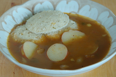 Potato Sambar and Rava Idly