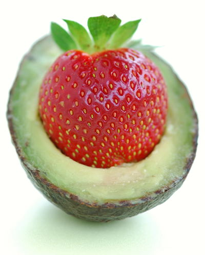 Avocado and Sweet Strawberry