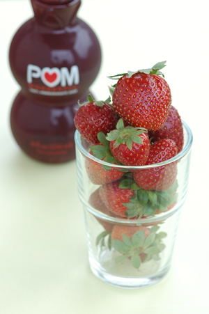 POM Pomegranate Juice and Sweet Strawberries